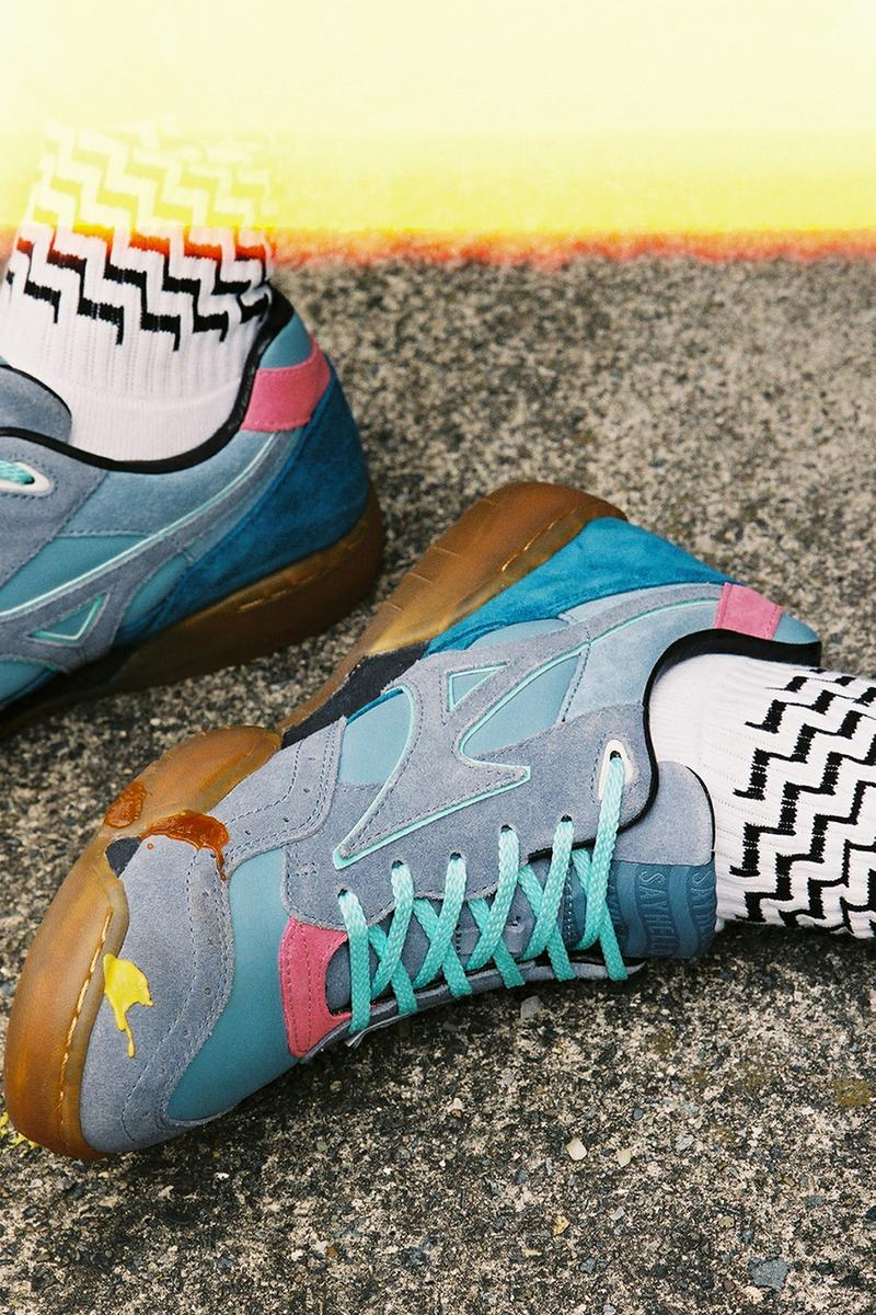 SAYHELLO x Mizuno Court Select Sneaker Collaboration march 21 2019 drop release date info buy sell colorways