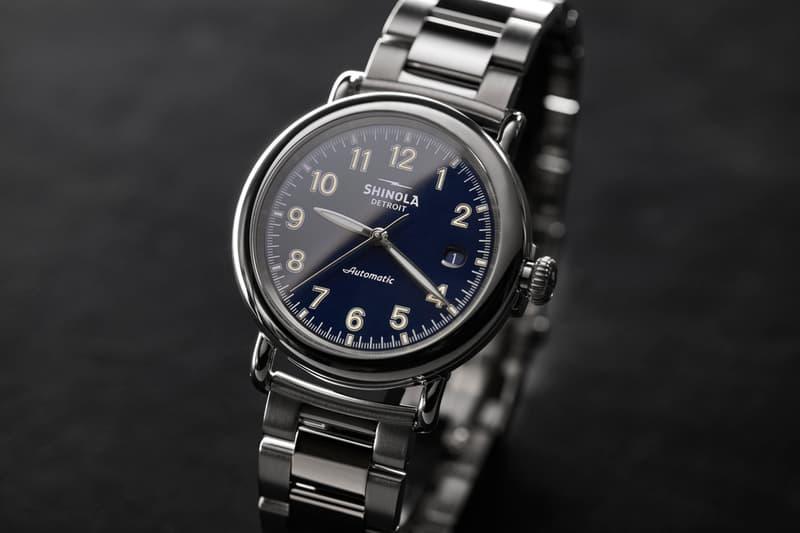 Shinola Runwell Automatic Watch Launch Movement Detroit Timepiece