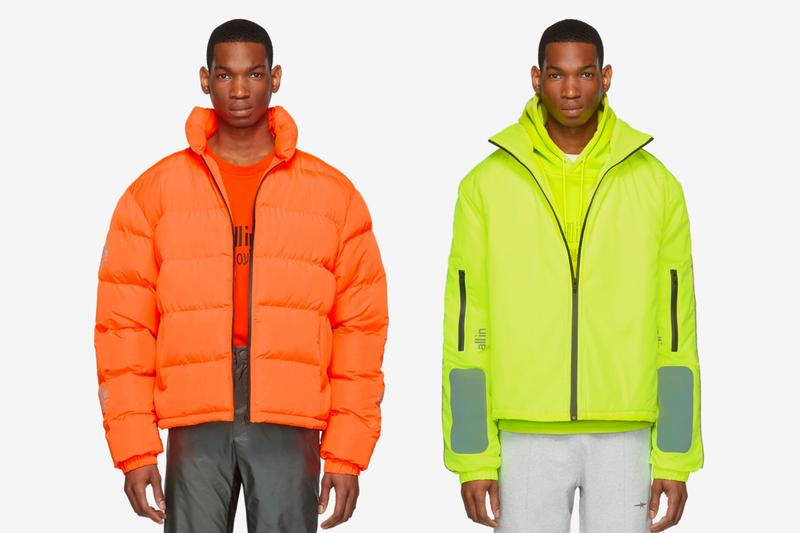 SSENSE Exclusive all in Capsule Release Tennis Astro Sneakers Yiddish Winter Puffy Winter Half Zip Pullover Hoodie T shirt Highlighter Neon Orange Yellow