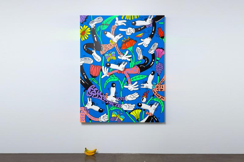 Steven Harrington 'Magic Hour' Exhibition artworks pop art exhibition california paintings LA los angeles sketches pencil pen-to-paper nike sportswear partnership collaboration