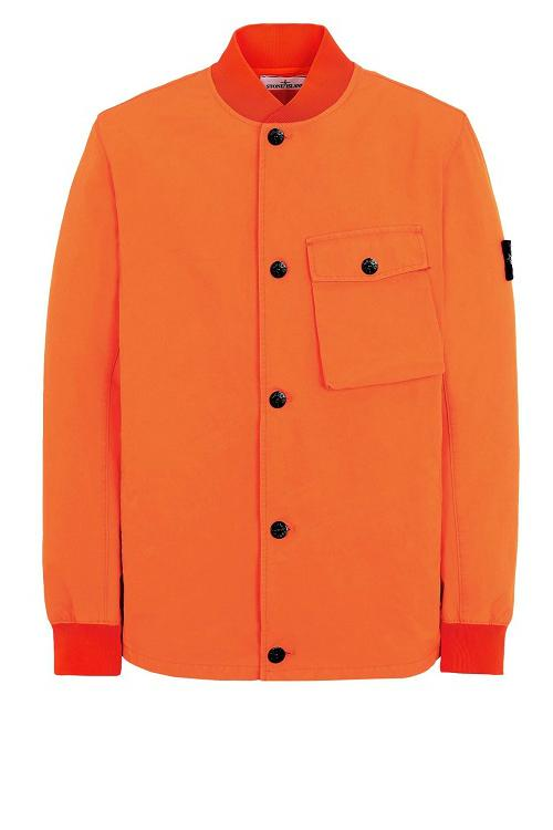 stone island ss19 spring summer 2019 fluo orange jacket jackets outerwear buy march info details cost price light soft shell r david bomber hooded blouson