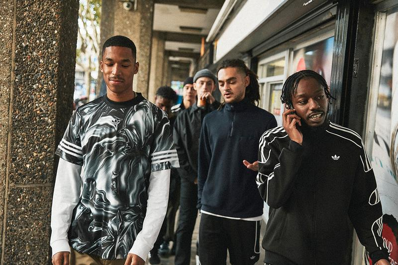 adidas originals stormzy release information drops merky south london track suits t shirts pants jacket nylon durable water resistant trefoil three stripes OG 90s inspired football heritage training kits