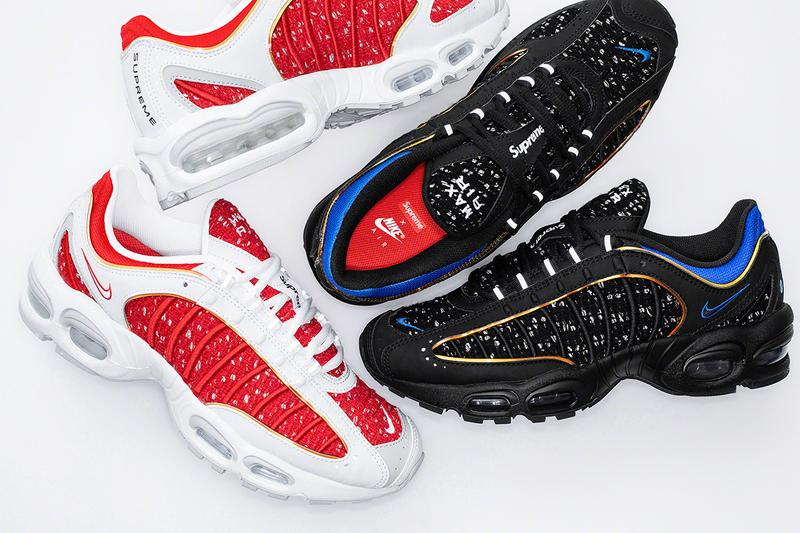 Supreme x Nike Air Tailwind IV Running Cap Release Date dry fit sneakers footwear trainers running