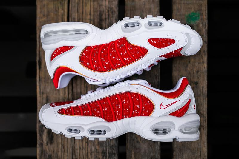 Supreme x Nike Air Tailwind IV Closer Look Sneakers Kicks Shoes Trainers Footwear Cop Purchase Buy Online Instore Soho London America New York Brooklyn Los Angeles White Black Colorway