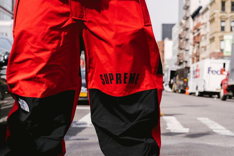 Supreme x The North Face SS19 Drop Street Style collaboration release date info buy on foot body worn scent