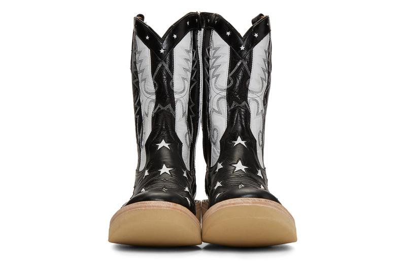 TAKAHIROMIYASHITA TheSoloist. Black Rios of Mercedes Edition Stars and Stripes Boots vegetable-tanned kidskin boots handmade in Texas big zips stars cowboy