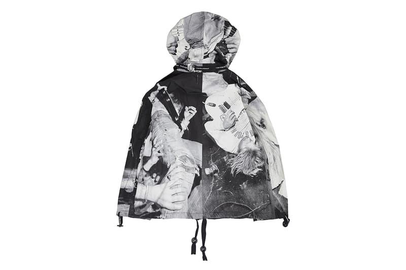 TAKAHIROMIYASHITA TheSoloist. spring summer 2019 ss19 grunge charles peterson kurt cobain courtney love sweater turtleneck pullover knit jacket parka hooded scarf print graphic photograph collaboration