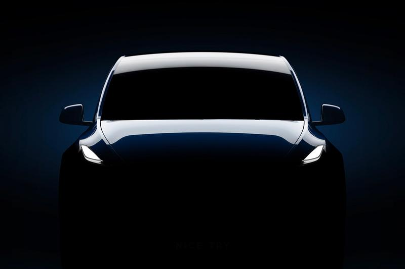 Tesla Model Y Teaser Easter Egg Nice Try Hidden Message Marketing electric vehicle automotive cars SUV Elon Musk