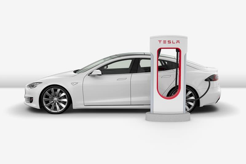 tesla v3 supercharger 250kW driving electric car motor clean engineering elon musk