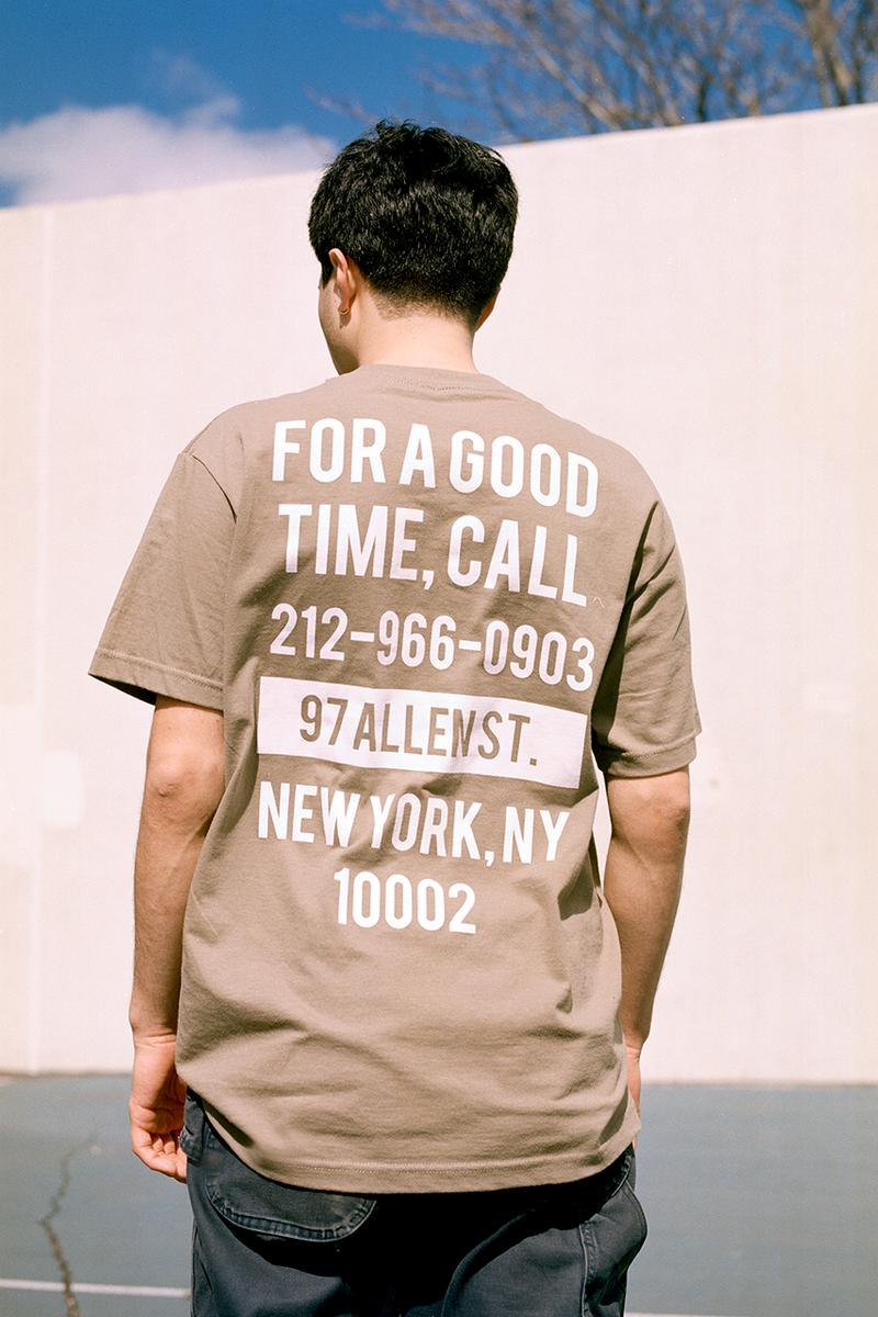 The Good Company SS19 Spring Summer 2019 Collection Lookbook New York City NYC 97 Allen T Shirt Long Sleeve Hoodies Denim Jacket Hat Socks Tote Bag