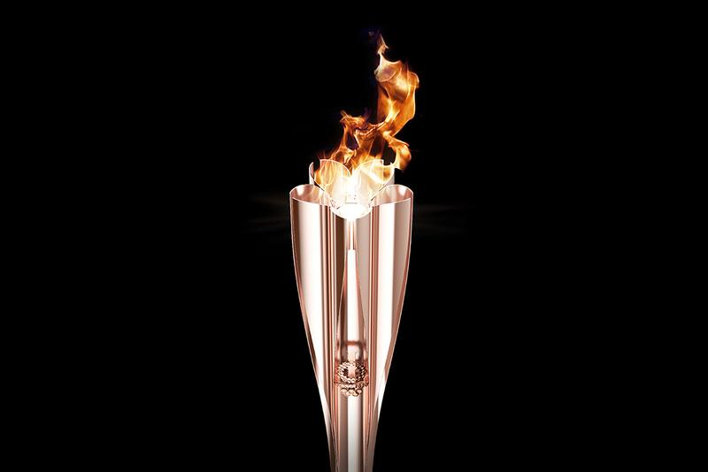 2020 Tokyo Olympic Cherry Blossom-Designed Torch summer games relay fire Sakura