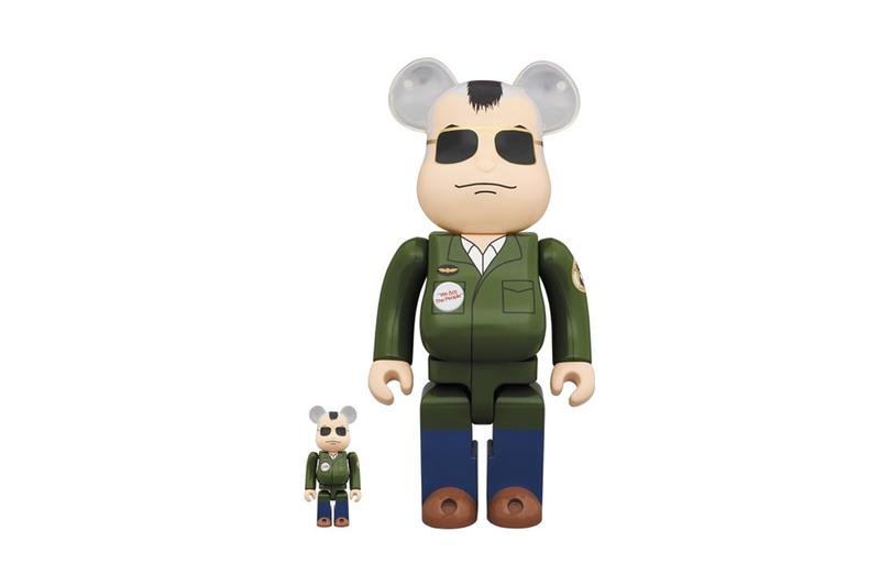 """Taxi Driver Medicom Toy Travis Bickle BE@BRICK bearbricks toy bear release info price drop date ON EVERY STREET IN EVERY CITY IN THIS COUNTRY THERE'S A NOBODY WHO DREAMS OF BEING SOMEBODY"""""""