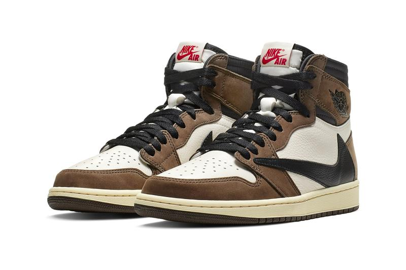 d92ce9888d79 Travis Scott Jordan 1 Cactus Jack Re Release 2019 Sail Dark Mocha  University Red Black CD4487. Nike