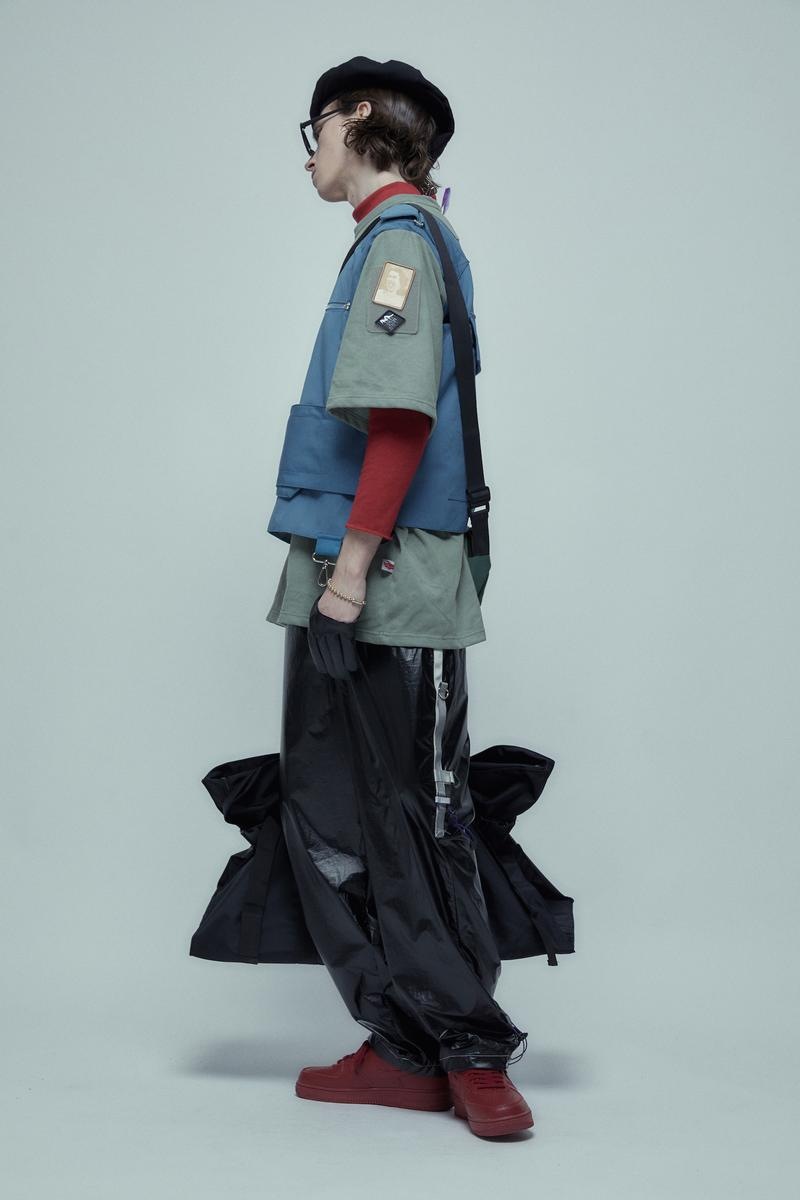 UMAMIISM Spring/Summer 2019 Collection Lookbook maximalist fashion menswear womenswear unisex oversized functional pockets shirting tailored japan brand patti smith john lennon yoko ono