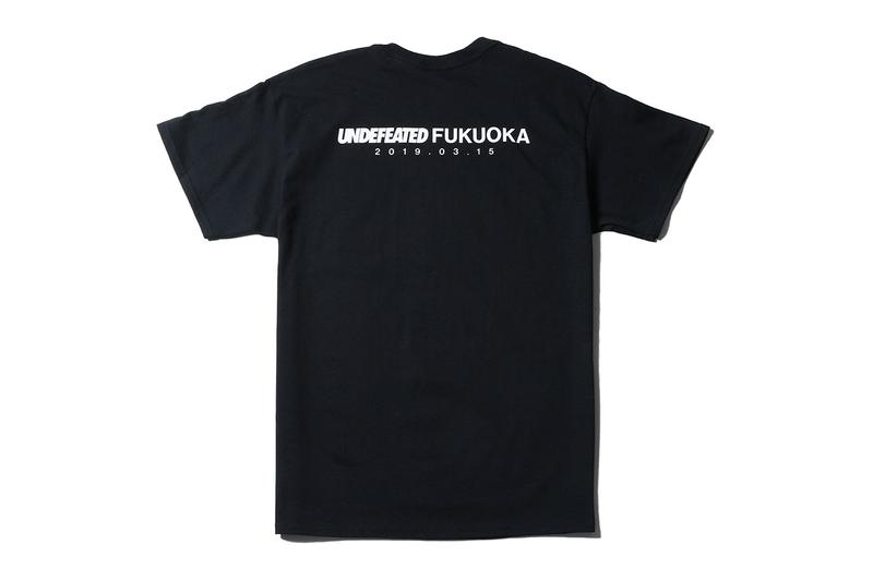 UNDEFEATED Fukuoka Parco Store Opening Capsule release date drop info exclusive tee shirt logo baseball bat