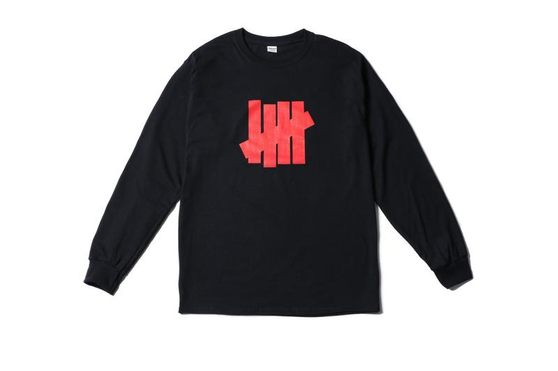 UNDEFEATED Osaka Flagship Exclusive Merch james bond japan long sleeve t-shirt black red