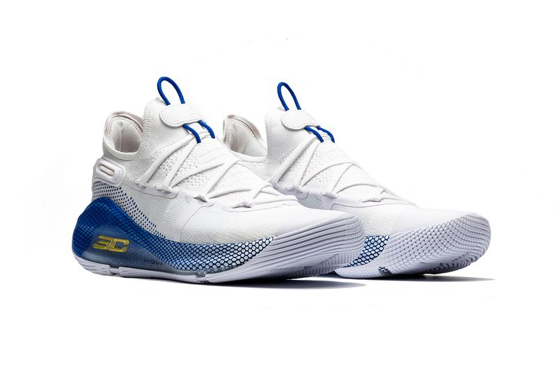 under armour curry 6 dub nation stephen curry 2019 april footwear  blue white yellow gold