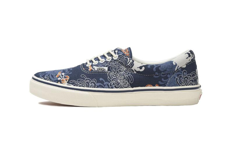 "Vans Drops Another ""Japan Fabrics Collection"" era old skool slip on traditional design print jacquard sneaker buy shop web store exclusive"