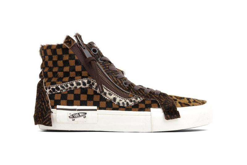 4bd940520cf7b2 Vans Vault LX Pony Hair Pack SK8-Hi Slip On Old Skool Checkerboard Fuzzy  Mismatched
