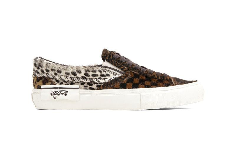 Vans Vault LX Pony Hair Pack SK8-Hi Slip On Old Skool Checkerboard Fuzzy Mismatched Animal Prints Badge Removed Lateral Heel Placement Design 2019 Spring Summer SS19