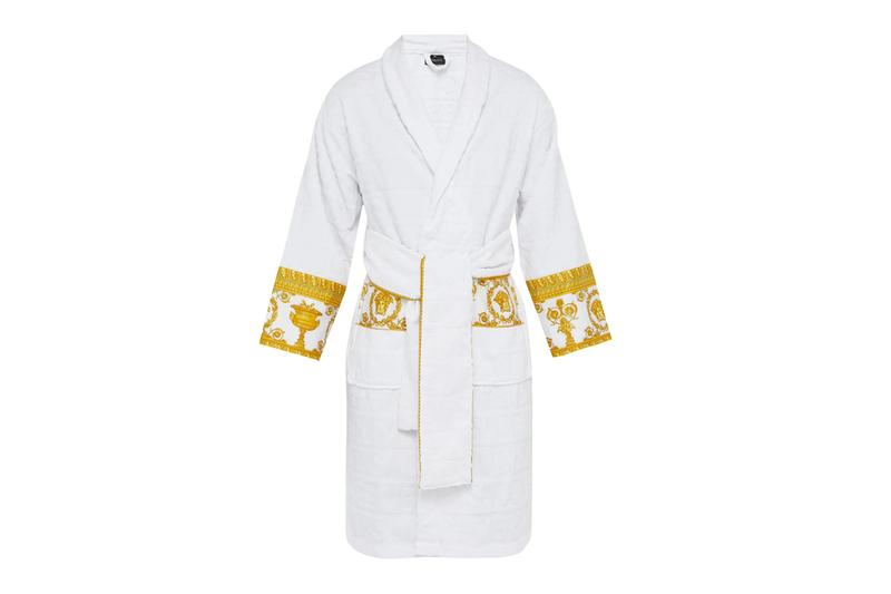 Versace I Love Baroque Bathrobe Release Navy Gold White Medusa