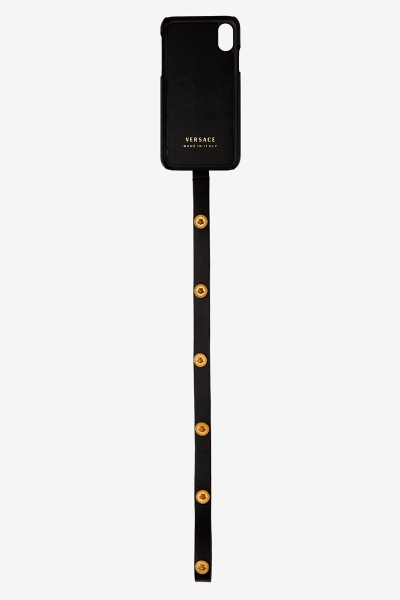 Versace Tribute Medusa iPhone X Case Release Black Gold SSENSE Strap
