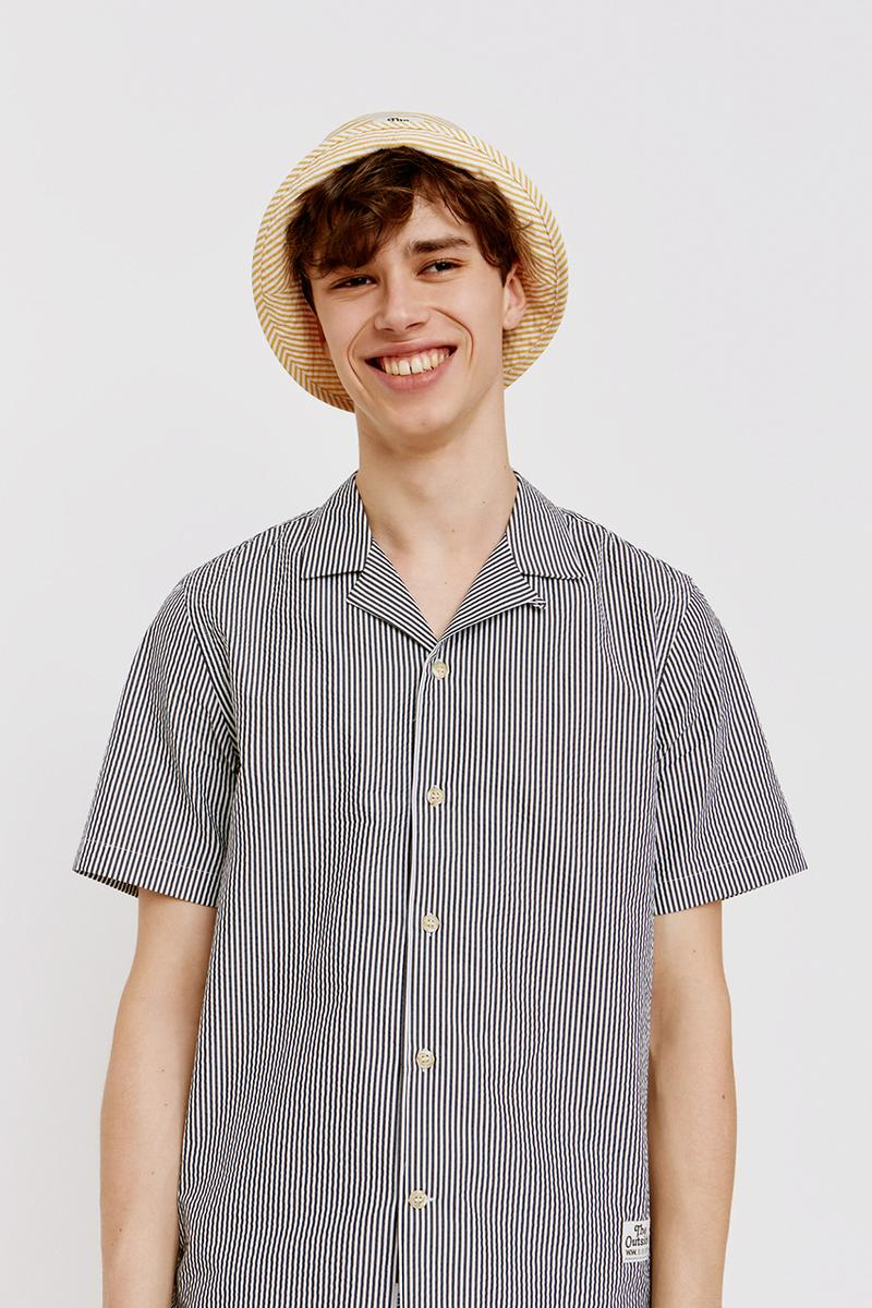 Wood Wood Mid Season SS19 Spring Summer 2019 Collection Lookbook Drop The Outside Theme Reworked Alvaro Shirt T-Shirt Bucket Hat Stripes Colorful Graphic Logo Drawings