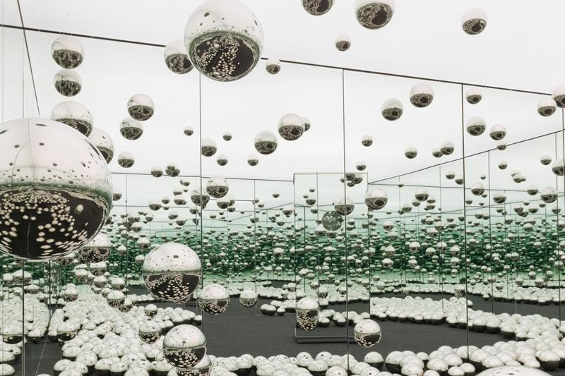 yayoi kusama all about love speaks forever fosun foundation shanghai china infinity mirror room