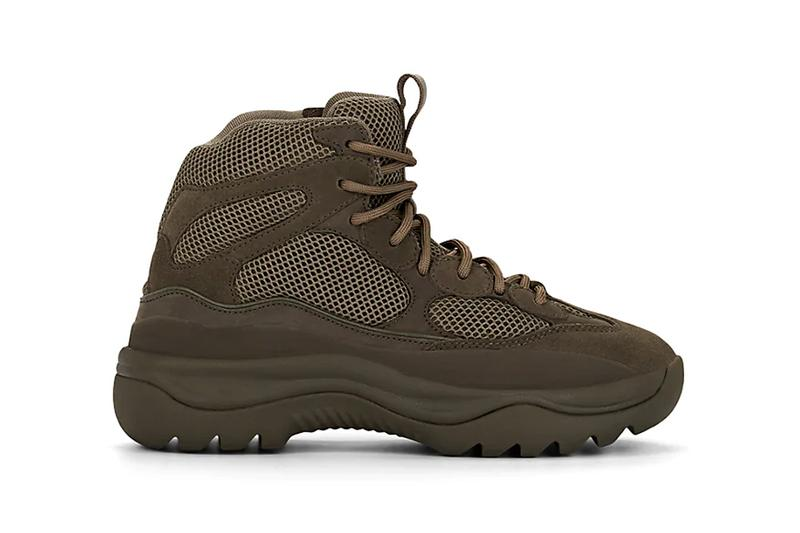 yeezy mixed material boots house blue wakame green colorways release barneys