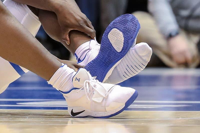 Zion Williamson Nike PG 2.5 PE Priced at 250K USD Duke Blue Devils University of North Carolina Tar Heels March Madness Basketball