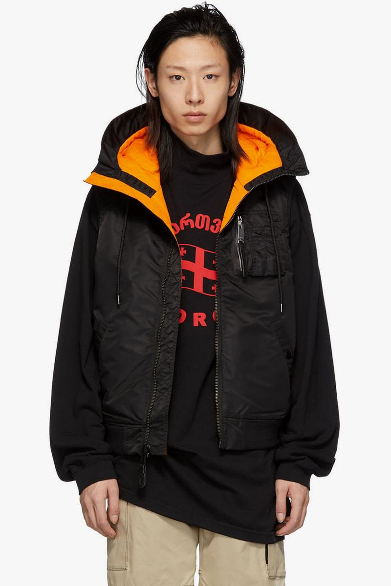 1017 ALYX 9SM Spring Summer 2019 SS19 Collection SSENSE Nike Edition Camo Long Sleeve T Shirt Black Tactical Vest Black Hood MA-1 Vest Jacket Orange Lining Streetwear Nick Knight Matthew M. Williams