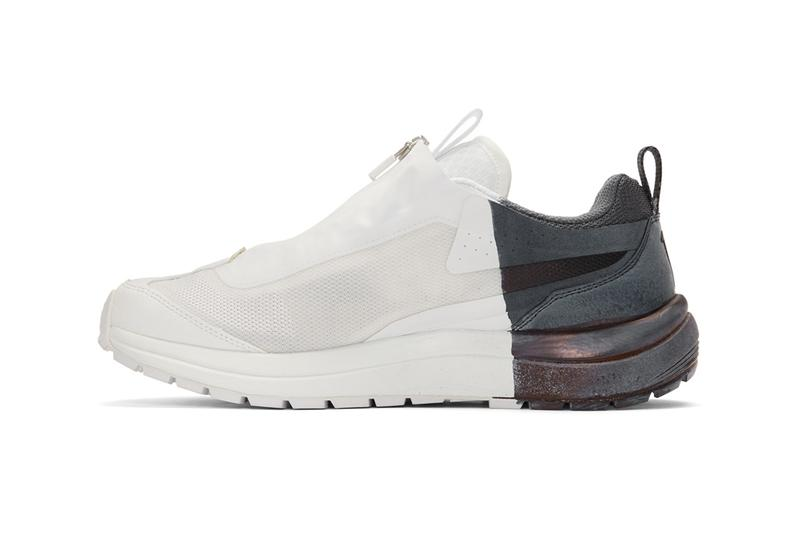 11 by boris bidjan saberi salomon low top sneakers release handpainted hand painted hand dipped colorblocked black white shoes ssense