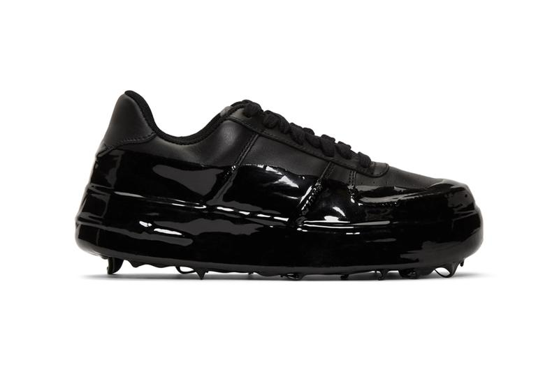 """424 Black 42Force Sneakers Release Info drop date SSENSE rubberized dip rubber dip Guillermo Andrade """"made in italy"""" leather textile 191010M237002"""