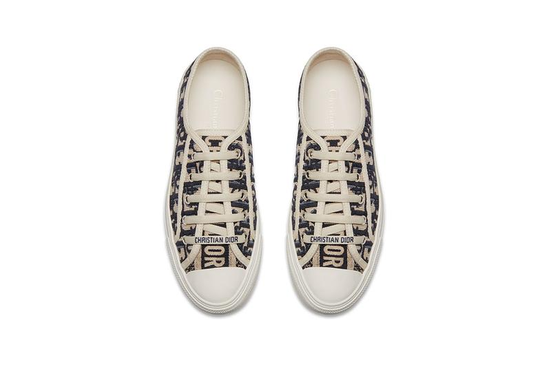 "Dior ""Walk'n'Dior"" Customizable Low-Top Sneakers abcdior oblique logo print ss19 spring summer 2019 canvas kim jones menswear womenswear unisex"