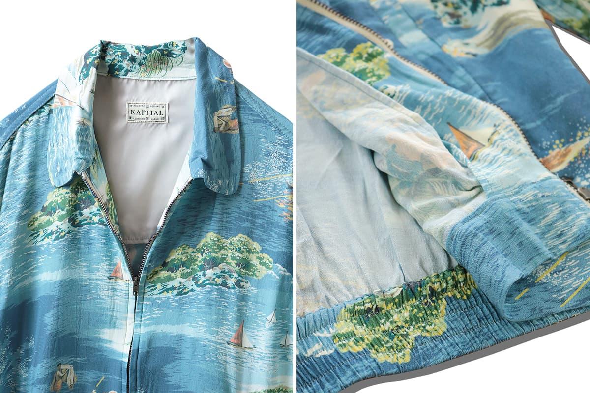 Kapital Kamehame Hareyon Doryzler Jacket Release Info accessories web store drop date pricing blue emerald Hawaii reference