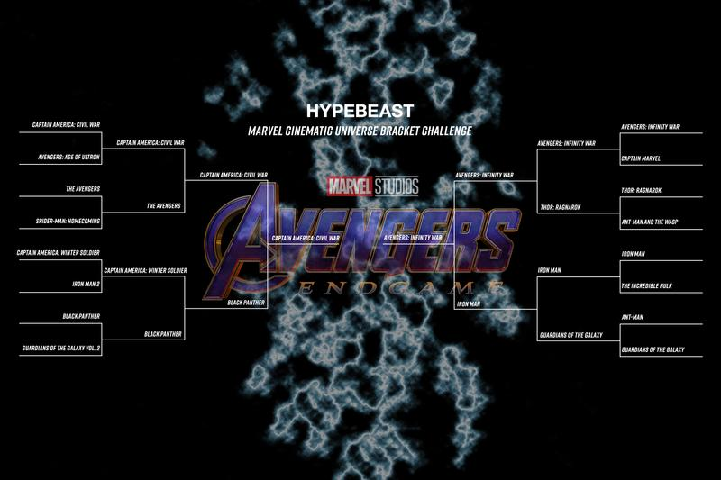 guardians of the galaxy volume 2 1 black panther the avengers marvel cinematic universe age of ultron endgame infinity war civil captain america iron man incredible hulk ant-man and the wasp thor ragnarok march madness bracket