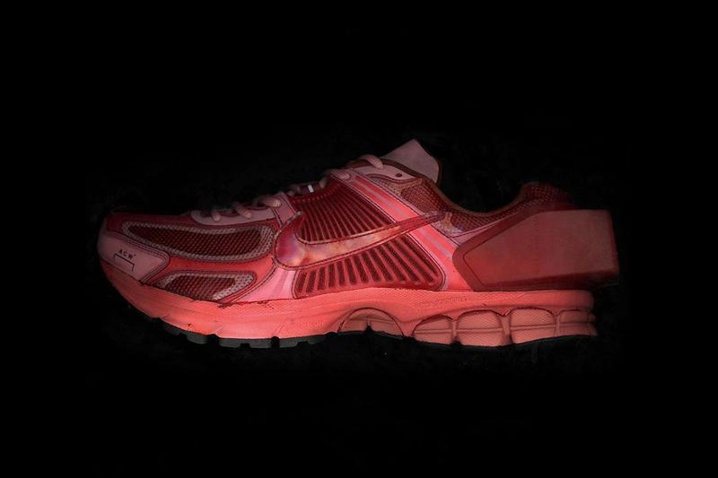 """A-COLD-WALL* x Nike Zoom Vomero +5 """"Red"""" Teaser samuel ross twitter on feet closer look colorway april 2019 release date drop"""