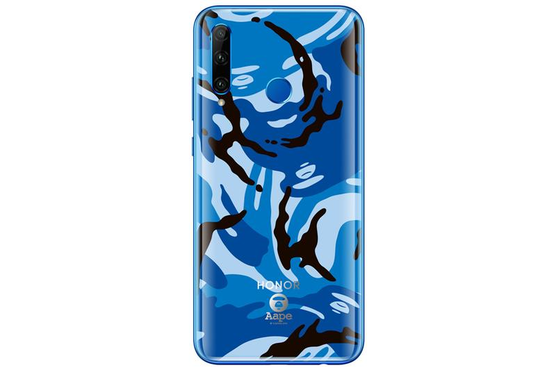 Glory 20i AAPE x HONOR Special Edition Smartphone Release Information Drop Limited Skin Wallpaper Body wild blue magic jungle pink BAPE camouflage Moon Face logo engraved