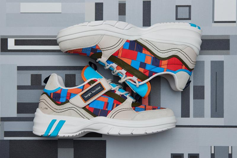 adam lister sergio tacchini power model sneaker fall winter artwork design collaboration art