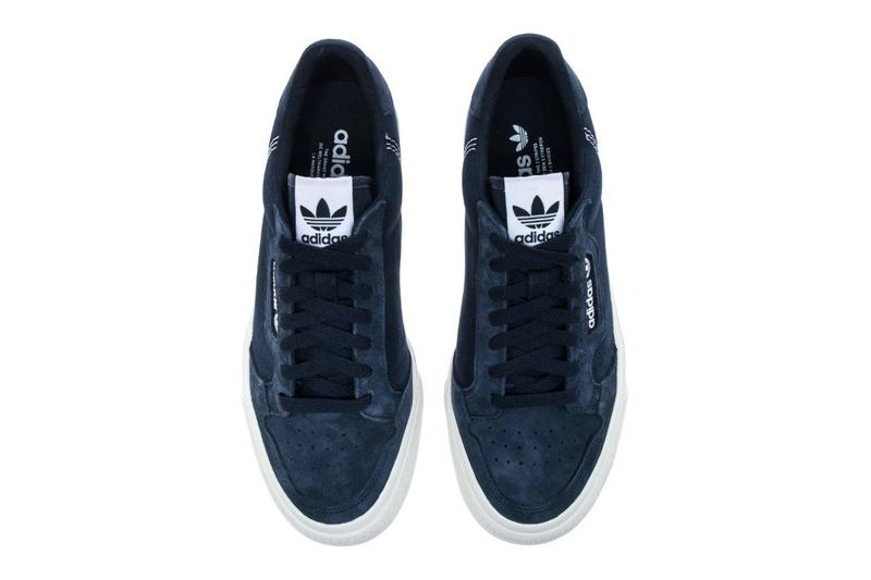 adidas Continental 80 Vulc Vulcanised Sneaker Skateboarding Sole Unit Spring Summer 2019 SS19 Black Navy White Casuals Suede Gum Release Information Drop Date