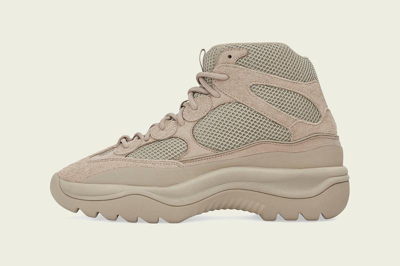 Kanye West adidas Originald YZY DSRT BT Rock Yeezy Desert Boot Season Six Re release mixed material taupe technical release information first look details collaboration