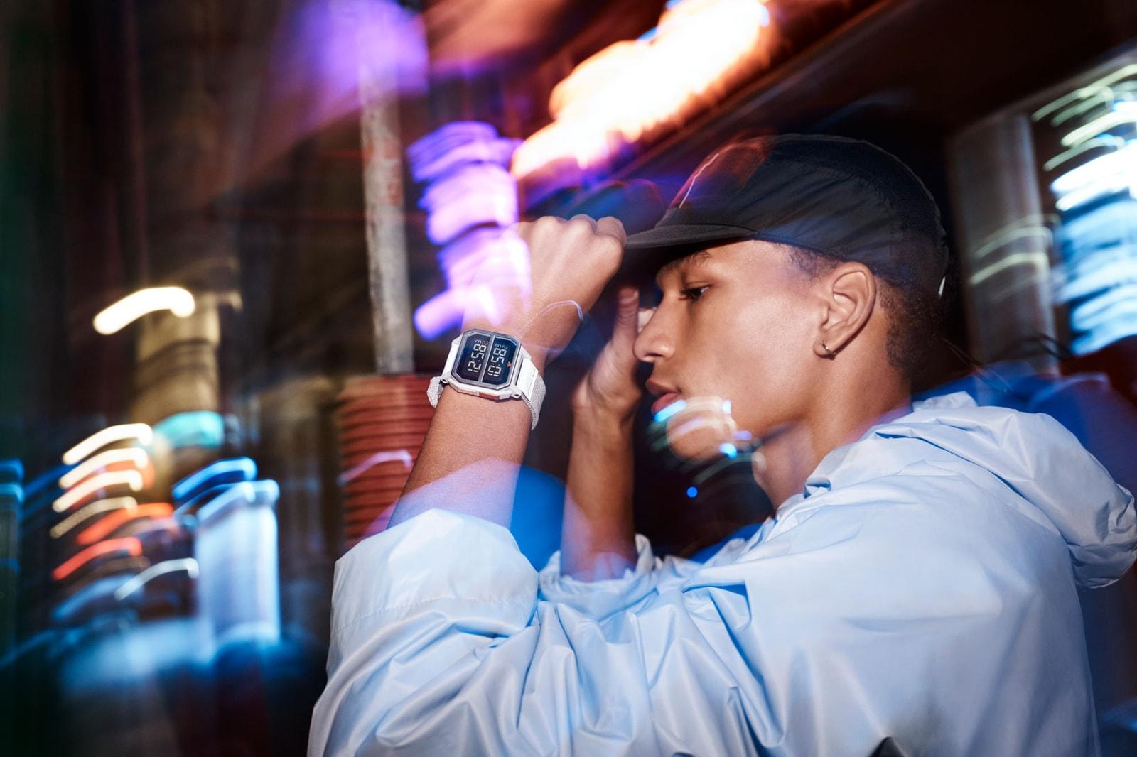 adidas Originals x Nixon Archive R2 Nite Jogger Watch, Adidas Adidas originals nite jogger nixon achive R2 watch grey orange reflective