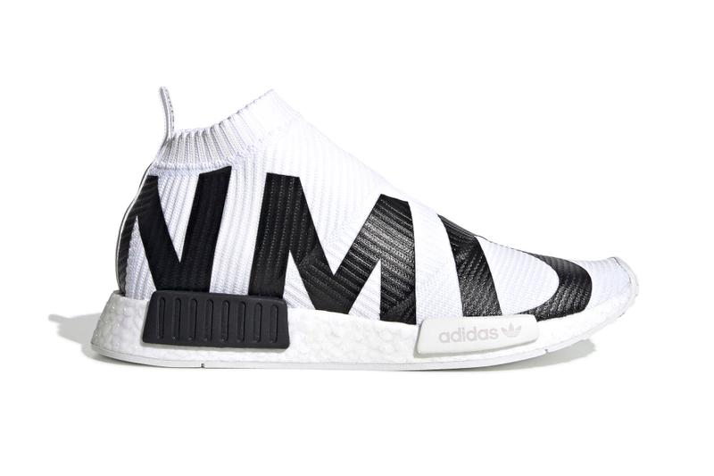 adidas' NMD CS1 Gets Dressed in Bold Branding black white core black cloud white