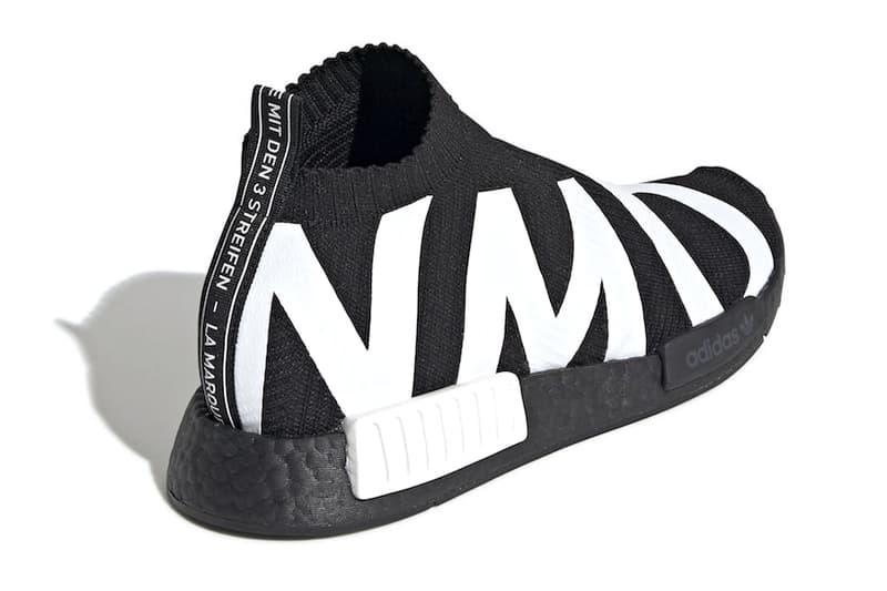 ca0205ed3 adidas  NMD CS1 Gets Dressed in Bold Branding black white core black cloud  white