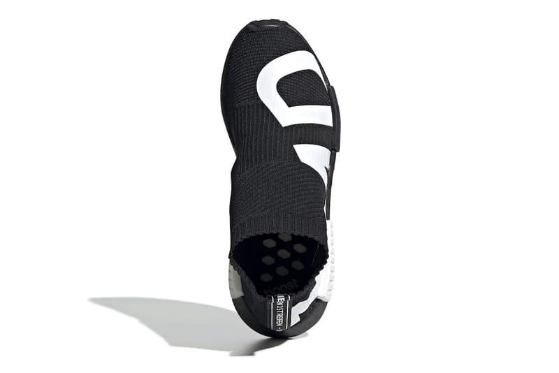 adidas' NMD CS1 Gets Dressed in Bold Branding black white core black cloud white