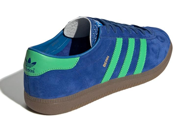 adidas originals city series bern shoes sneakers release dark blue semi flash lime green bluebird colorway