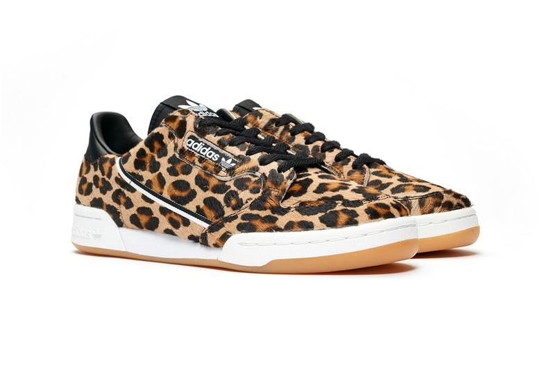 adidas originals continental 80 leopard pony hair sneaker release lowtop lace up