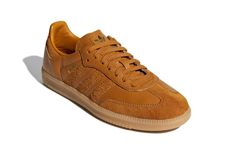 adidas originals samba og ft craft ochre gold met colorway sneaker release