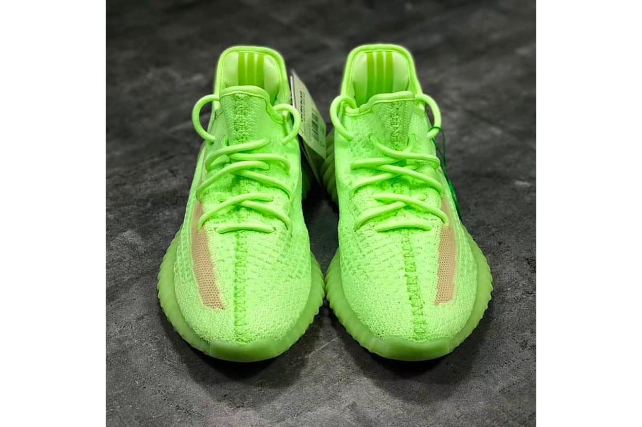 yeezy neon shoes