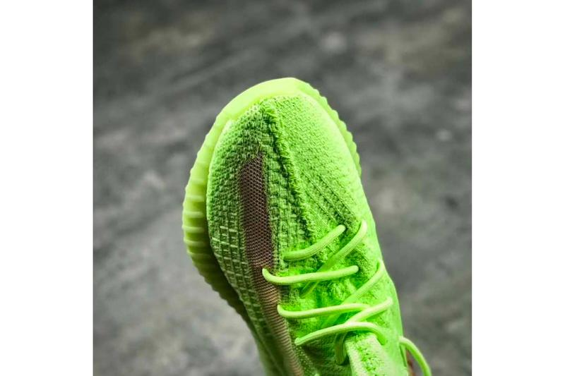 adidas YEEZY Boost 350 V2 Glow In The Dark First Look Neon Green Yellow Kanye West